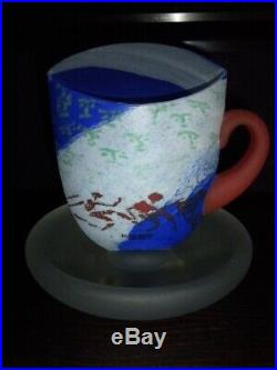 Kosta Boda Kjell Engman Art glass 4 Teacups, Teapots Sculptures figures RARE