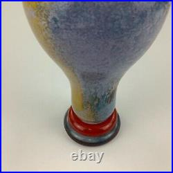 Kosta Boda Kjell Engman Can Can 12 Tall Pitcher Jug Green Handled Vase