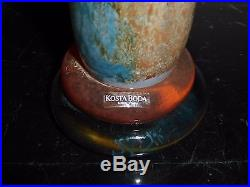 Kosta Boda Kjell Engman Can Can Pitcher Signed and Numbered 89147 12 1/4 High