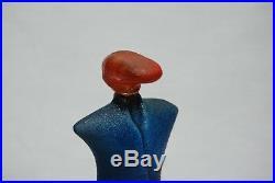 Kosta Boda. Kjell Engman. Catwalk. Figure Rocka Billy In Orange And Blue
