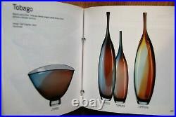 Kosta Boda Kjell Engman. Huge Vase Tobago 52 Cm. Signed