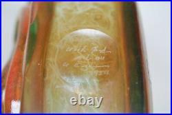 Kosta Boda, Kjell Engman. Large Bottle/vase Rio Very Rare