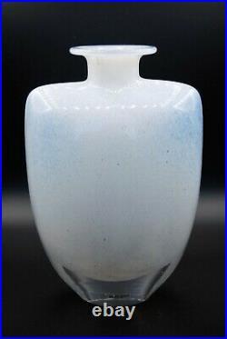 Kosta Boda. Kjell Engman. Large Oval Vase Swingin Cloudy White. 25 Cm. Signed