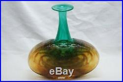 Kosta Boda. Kjell Engman. Large Vase Rioin Orange And Green. Signed
