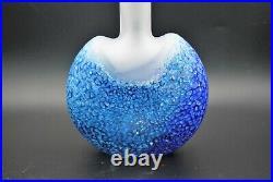 Kosta Boda. Kjell Engman. Long Vase Reefin Blue 25 CM