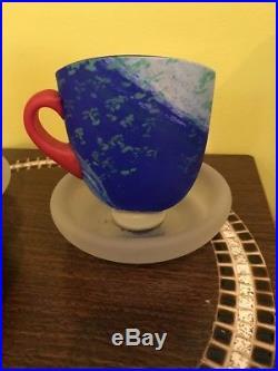 Kosta Boda Kjell Engman Ltd Edition 2004 Set of Three Teacups Scuptures RARE