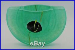 Kosta Boda. Kjell Engman. Oval Vasein Lime Green. Limited Ed. 400 Atelje. 1989