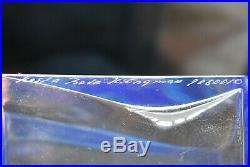 Kosta Boda. Kjell Engman. Rare Decanter Macho With Metal Stopper In Blue