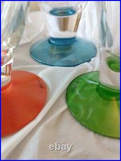 Kosta Boda Kjell Engman Swedish Art Glass Vase Madam, 3 LOT