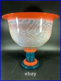 Kosta Boda LARGE Footed Bowl/Cup Can Can Bowl by Kjell Engman Scandinavian Glass
