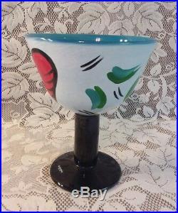 Kosta Boda Large Hearts Footed Bowl Goblet Glass Hydman Vallien 7050242 Signed