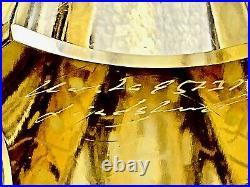 Kosta Boda Lindstrand Stylized Art Glass 11 Yellow Giraffe 95237 Sweden Signed