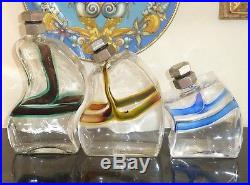 Kosta Boda Macho Set Of 3 Decanters Signed And Numbered By Kjell Engman