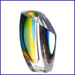 Kosta Boda Mirage Vase (Blue, Amber, Small)