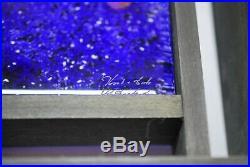 Kosta Boda Monica Backström Large Art Object Frozen Images In Blue