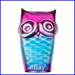 Kosta Boda My Wide Life Owl (Blue/Pink)