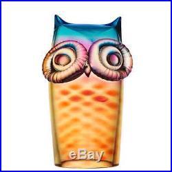Kosta Boda My Wide Life Owl (YellowithRed)
