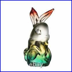 Kosta Boda My Wide Life Rabbit Figure New NIB Green / Yellow Large size