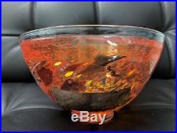 Kosta Boda ORANGE Satellite Bowl Artist Collection Bertil Vallien Sweden 59725