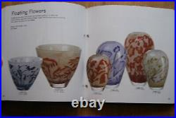 Kosta Boda. Olle Brozen. Large Vase Floating Flowers. Signed And Labeled