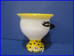 Kosta Boda Open Minds Bird Face Vase Ulrica Hydman Vallien 59325