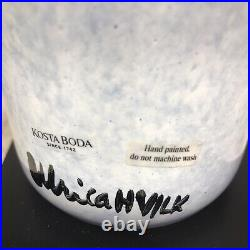 Kosta Boda Open Minds Hand Painted Vase By Designer Ulrica Hydman-Vallien New