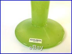 Kosta Boda Open minds Green Glass Vase By Ulrika Hydman From Sweden