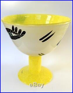 Kosta Boda Open minds Yellow Glass Vase By Ulrika Hydman From Sweden