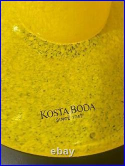 Kosta Boda Open minds Yellow Glass Vase By Ulrika Hydman From Sweden Rare
