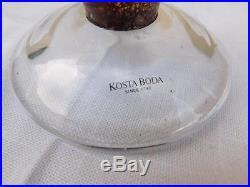 Kosta Boda Orange Twister Vase Kjell Engman Signed