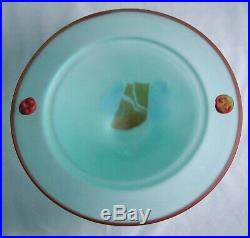 Kosta Boda PANDORA Art Glass Frosted Footed Compote Bowl Signed M. Backstrom