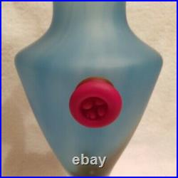 Kosta Boda PANDORA Monica Backstrom Swedish Frosted Glass Vase 15 Rare! EC