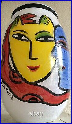 Kosta Boda Rare Ulrica Hydman-vallien Large Limited Edition Vase Open Minds