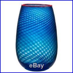 Kosta Boda Red Rim Vase (Large)