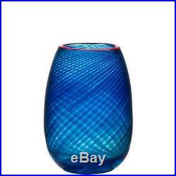 Kosta Boda Red Rim Vase (Small)