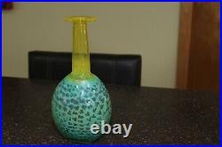 Kosta Boda Rio Face Tall Bottle Vase by Kjell Engman RARE