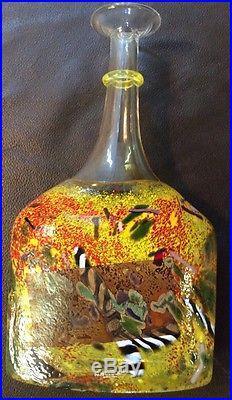 Kosta Boda Satellite Bottle Vase Signed Bertil Vallien 89252