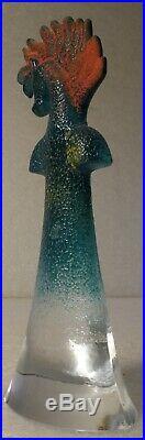 Kosta Boda Scandinavian Designed Art Glass Signed And Numbered Kjell Engman