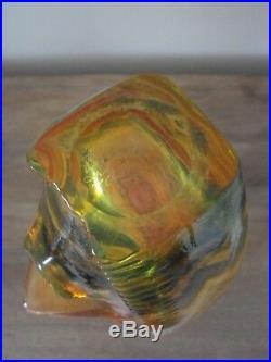 Kosta Boda Scandinavian Kjell Engman Rare Large Glass Rio Face Vase