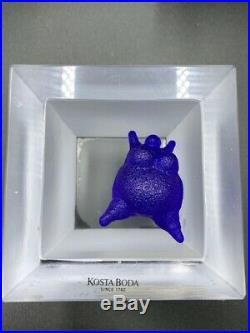Kosta Boda Sculpture large blue woman