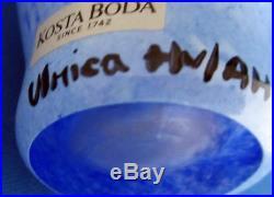 Kosta Boda Signed Glass Face Vase Ulrica Hydman Vallien Open Minds