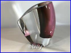 Kosta Boda Signed Goran Wharff Mirage Art Glass Vase. Colour Red. Stunning