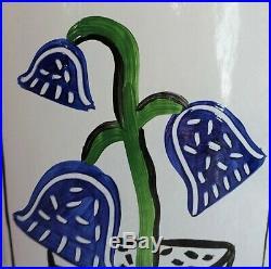 Kosta Boda Summer Dreams Art Glass Vase Ulrica Hydman Vallien 7040646 Bluebells
