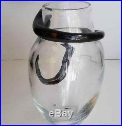 Kosta Boda Sweden Art Glass Ulrica Hydman 9 Serpant Garden Eden Cleopatra Vase