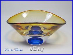 Kosta Boda Sweden Garan Warff Modern Art Glass Vision Bowl