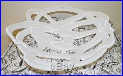 Kosta Boda Sweden Large White Glass Basket Bowl By Anna Ehrner Euc In Box 15