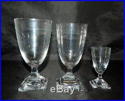 Kosta Boda Sweden Set of 12 Florida Pattern Footed Glasses Water, Wine & Cordial