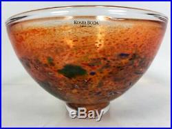 Kosta Boda Swedish Art Glass Bowl Satellite Bertil Vallien Signed 1960s