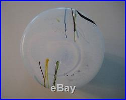 Kosta Boda Swedish Art Glass Vase Scandinavian 9.5 tall Signed Bertil Vallien