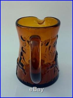 Kosta Boda Swedish Glass by Erik Hoglund, Six Pieces, Amber